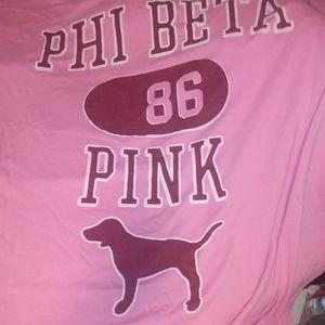 Vintage pink stadium blanket